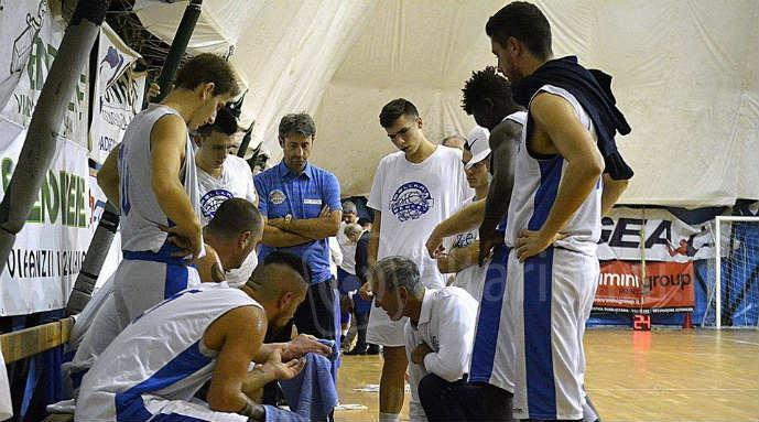 Un time out del Bellaria Basket