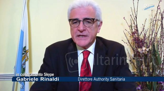 La conferenza stampa del direttore dell'Authority Sanitaria Gabriele Rinaldi