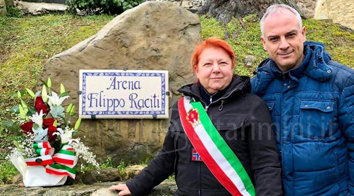 Sindaco Wally Cipriani e vicesindaco Massimiliano Forlani all'arena Filippo Raciti