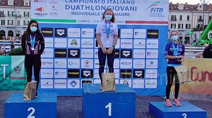 Il podio Duathlon Youth A