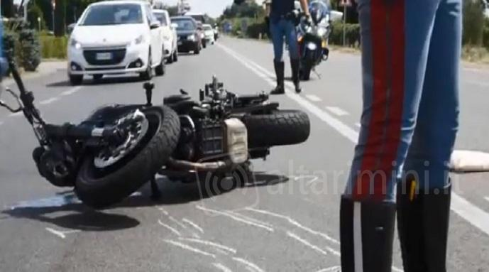 La moto incidentata