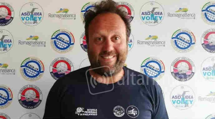Il coach di Idea Voley Luca Nanni