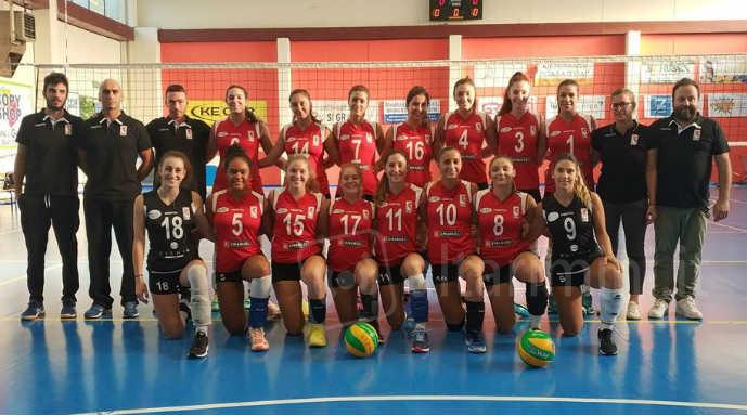 La squadra dell'Emanuel Riviera Volley
