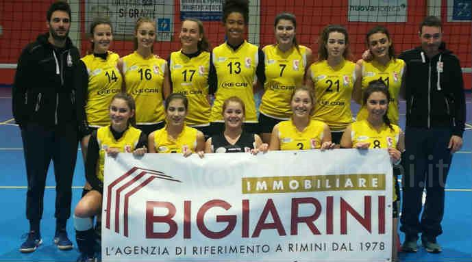 La squadra Under 18 Ke Car Riviera Volley Rimini